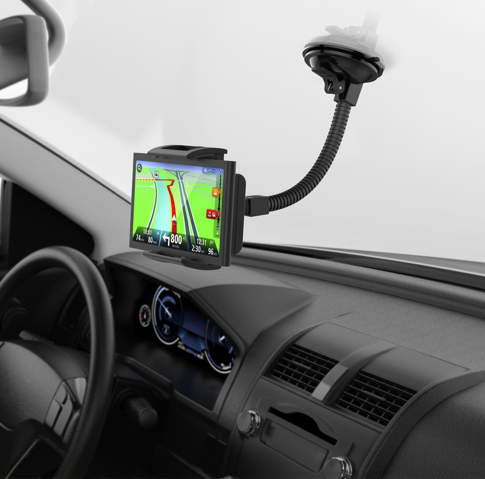 360/° MONTOLA/® Capto X2 KFZ Universal Halter PKW Halterung mit Saugnapf Navi GPS